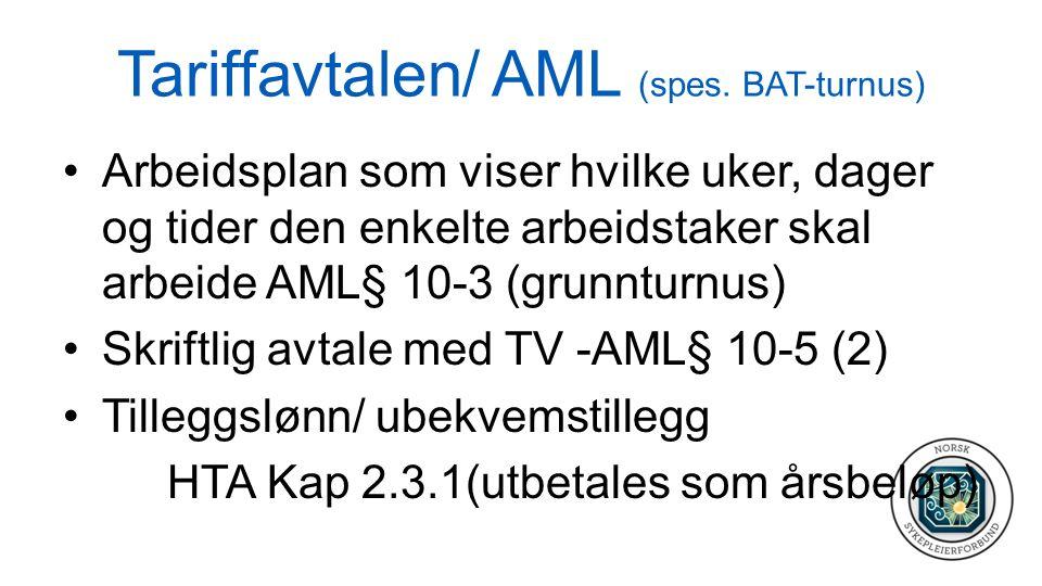Tariffavtalen/ AML (spes.