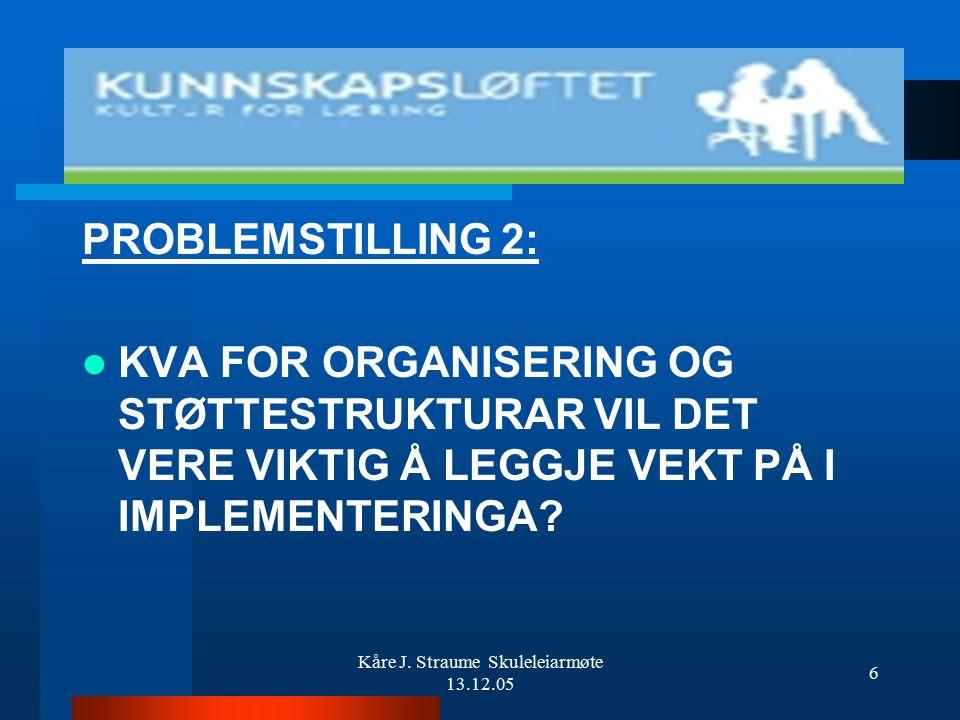 Kåre J. Straume Skuleleiarmøte 13.12.05 5