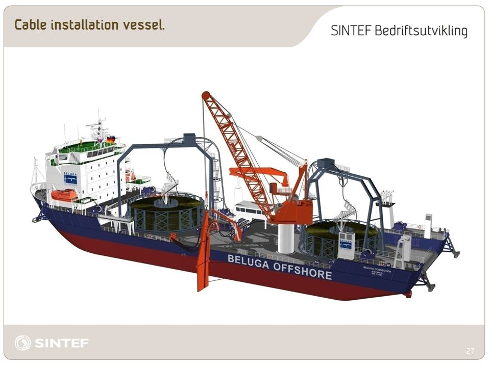 Cable installation vessel. 27