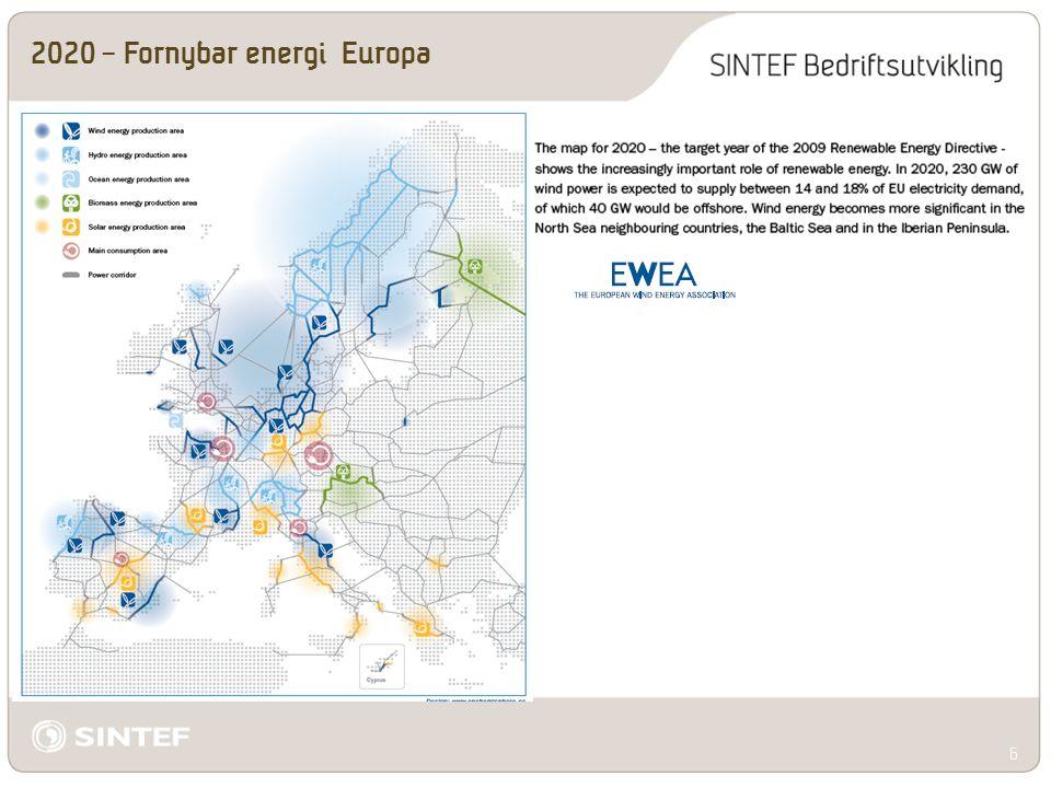 2050 – Fornybar energi Europa. 7