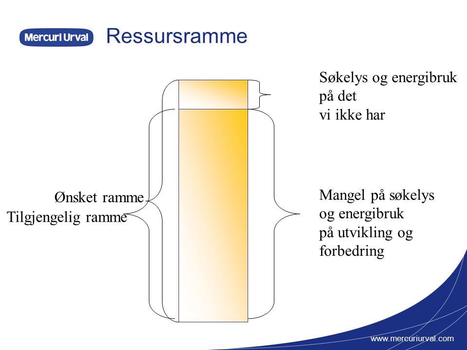 www.mercuriurval.com Handlingsrom Ressursbruk 100% Omstilling - forbedring 1.år 2.år3.år4.år Handlingsrom Etter 4 år