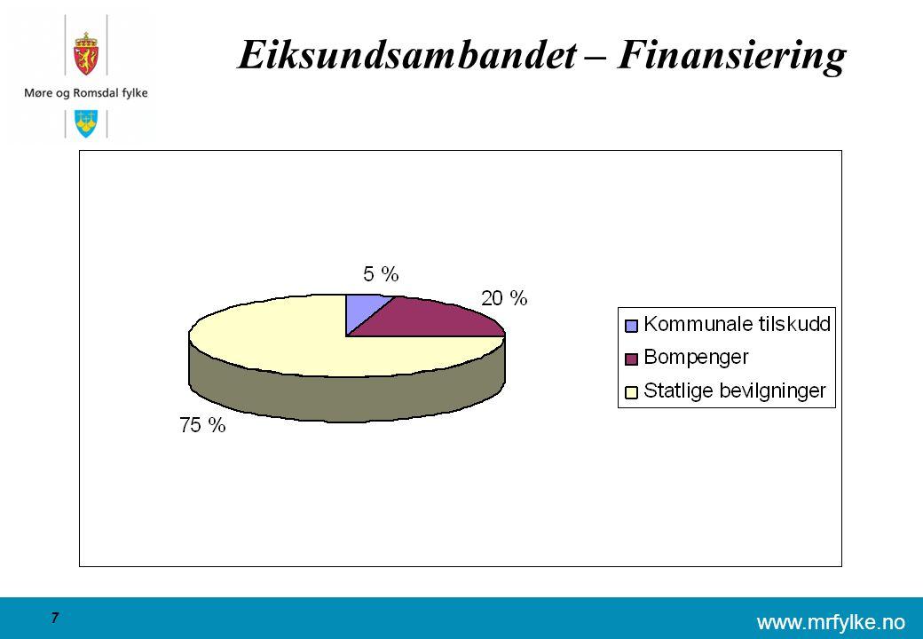 www.mrfylke.no 8 Nordøyvegen  Nordøyvegen AS ble stiftet i 1987  Konsekvensutredning godkjent av Vegdirektoratet i 2003 og kommunedelplan for prosjektet er gjennomført  Fylkestinget vedtok i april 2005 å prioritere prosjektet gjennom Nasjonal transportplan 2006-2015  Reguleringsplan for Nordøyvegen ligg inne i planprogrammet for Statens Vegvesen for perioden 2009-2011.