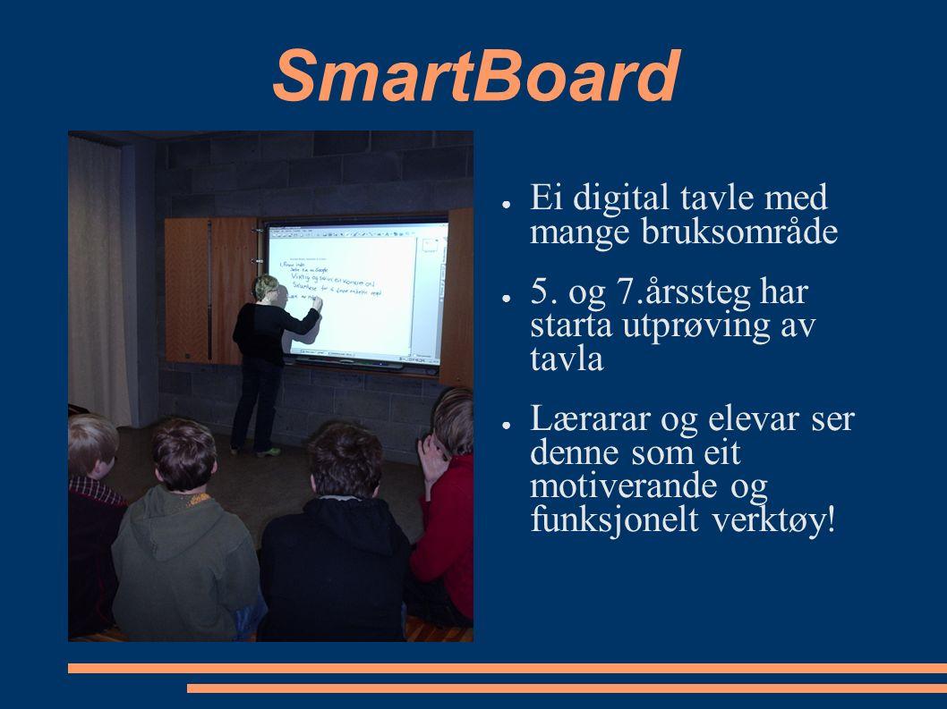 SmartBoard ● Ei digital tavle med mange bruksområde ● 5.