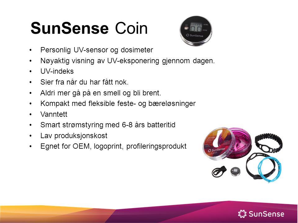 SunSense Coin Personlig UV-sensor og dosimeter Nøyaktig visning av UV-eksponering gjennom dagen. UV-indeks Sier fra når du har fått nok. Aldri mer gå