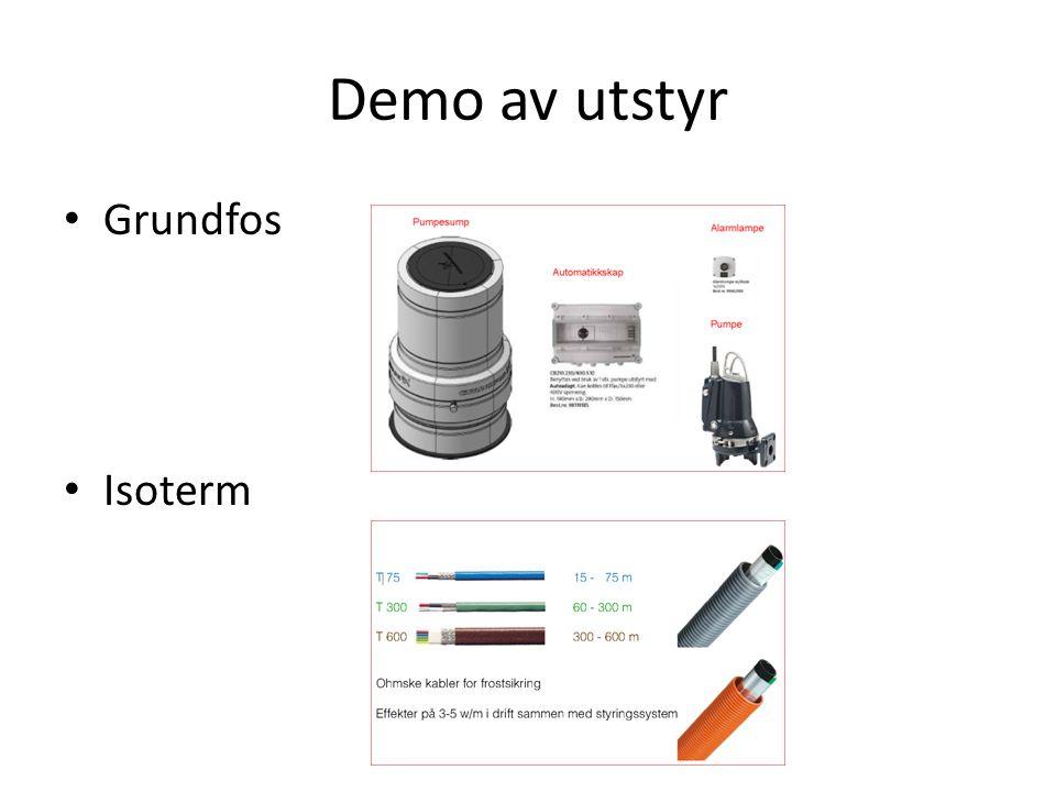Demo av utstyr Grundfos Isoterm