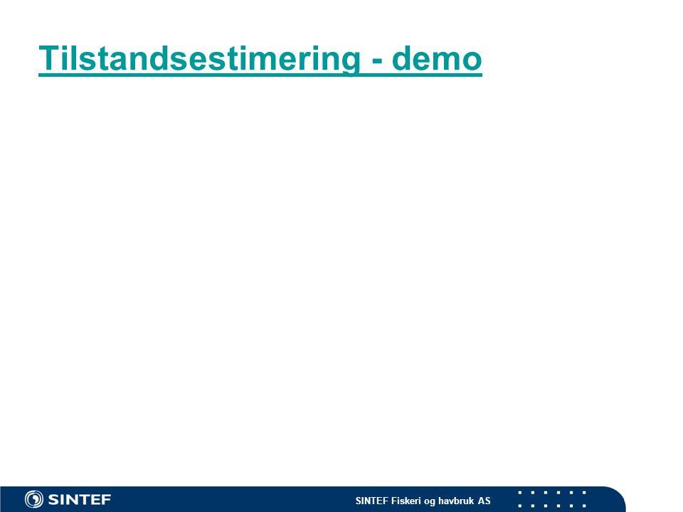 SINTEF Fiskeri og havbruk AS Optimalisering: Hvilke valg er best? Input Beslutninger Designparametre Kontrollsignal Evaluering Energiforbruk Kostnader Evaluering Energiforbruk Kostnader Optimaliseringsrutine