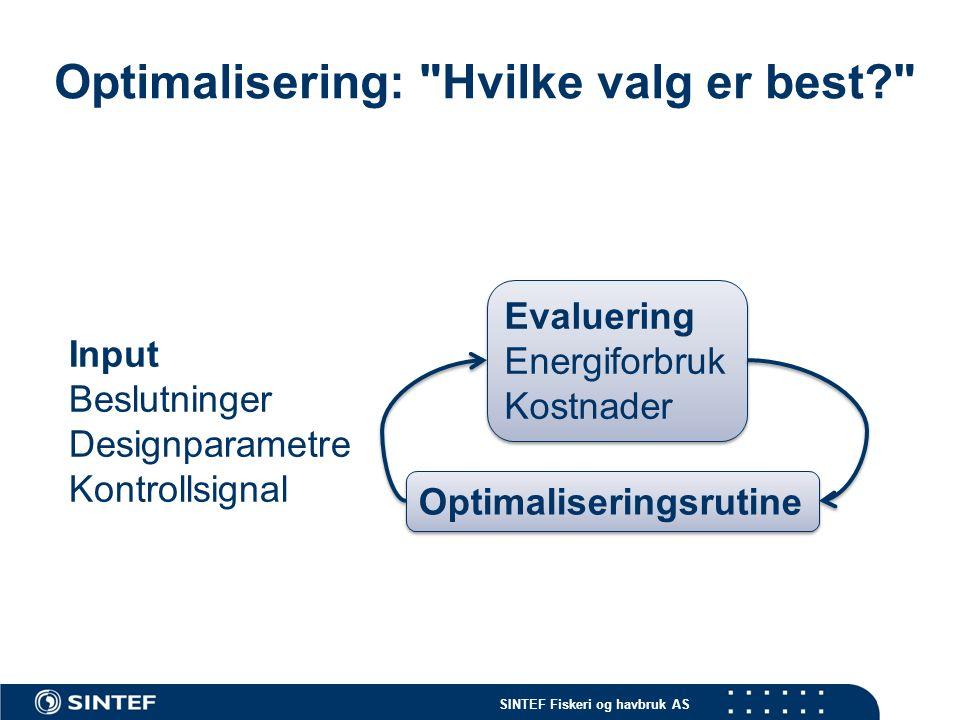 SINTEF Fiskeri og havbruk AS Ringnot - overvåking Operasjonell beslutningsstøtte