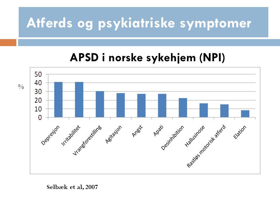 Årsaker - Psykologisk hypotese Hvem skulle ikke bli deprimert hvis en hadde demens ?