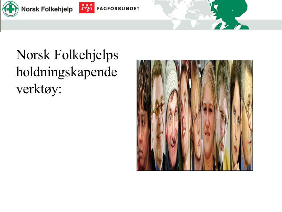 Norsk Folkehjelps holdningskapende verktøy: