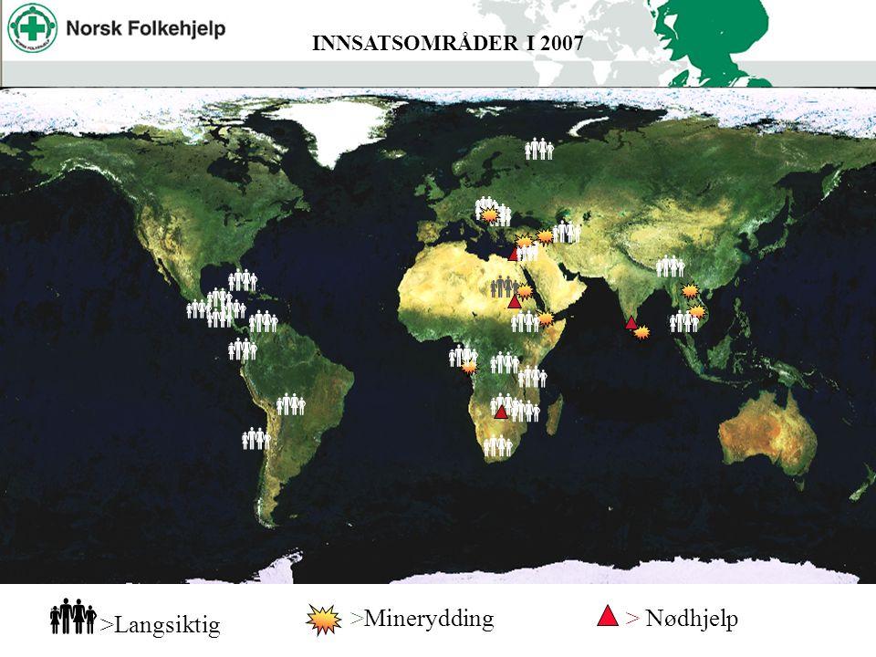 Angola                      INNSATSOMRÅDER I 2007  >Langsiktig >Minerydding> Nødhjelp     