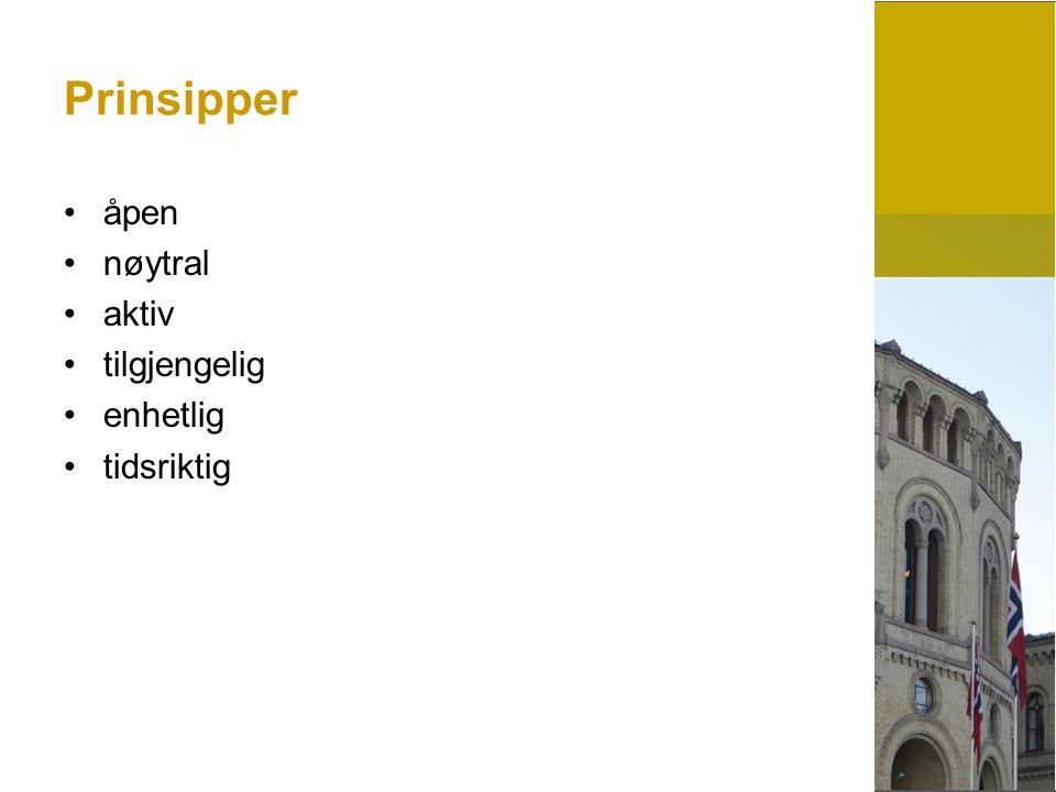 Arbeidet med pressen Dagens arbeid Både reaktivt og proaktivt.