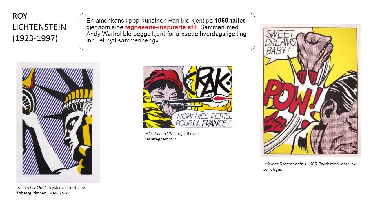 «Liberty» 1982. Trykk med motiv av frihetsgudinnen i New York.