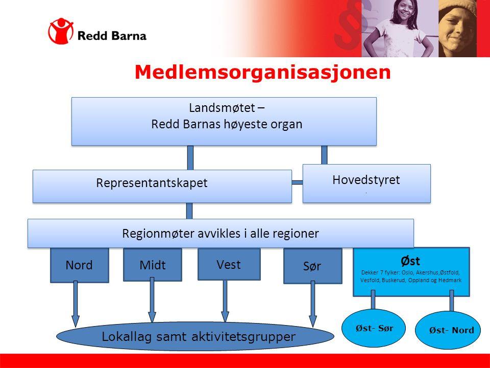Medlemsorganisasjonen Landsmøtet – Redd Barnas høyeste organ Hovedstyret.