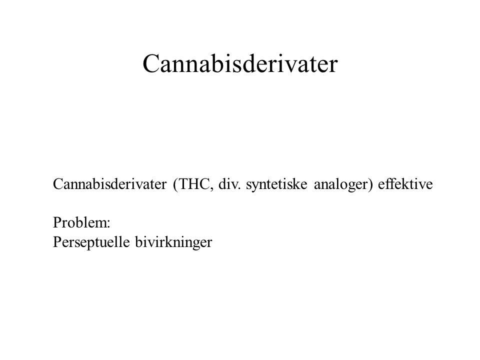 Cannabisderivater Cannabisderivater (THC, div.
