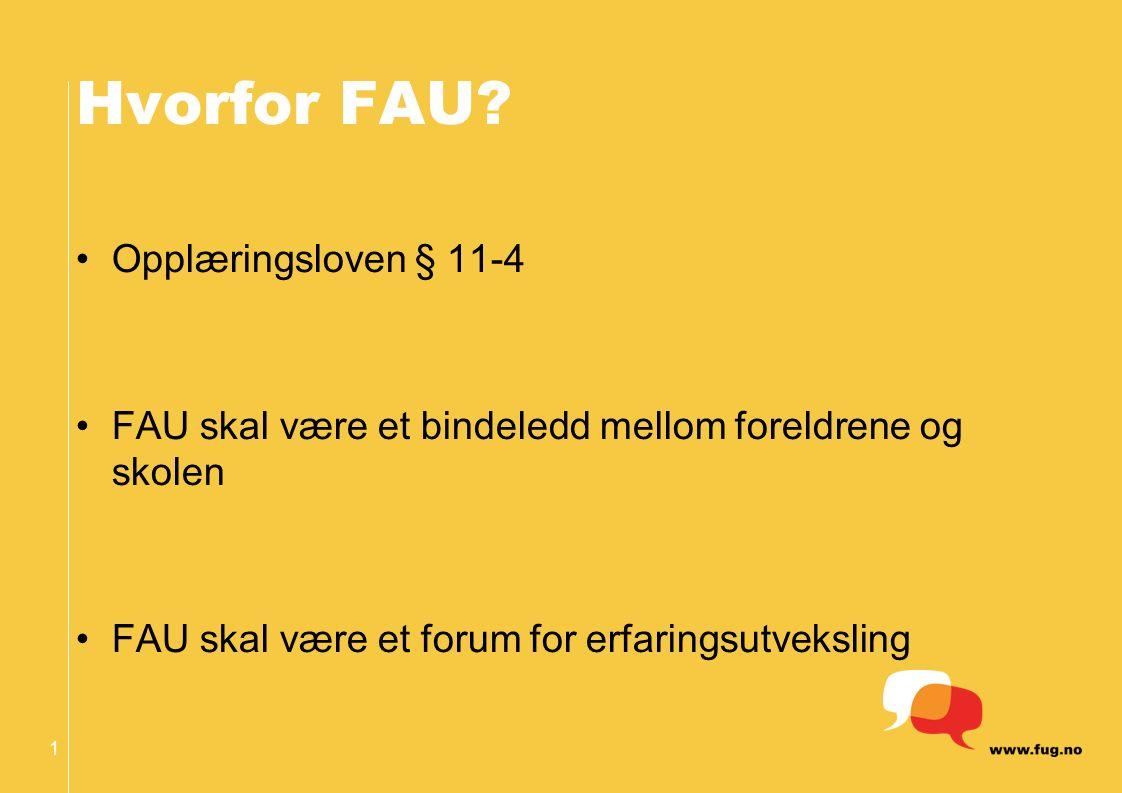 1 Hvorfor FAU.