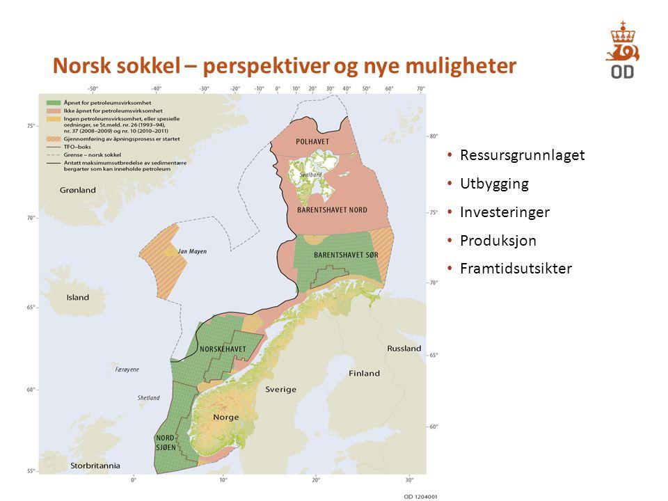 Norsk sokkel – perspektiver og nye muligheter Ressursgrunnlaget Utbygging Investeringer Produksjon Framtidsutsikter 3