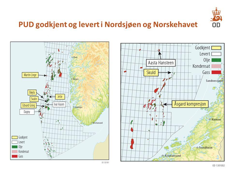 PUD godkjent og levert i Nordsjøen og Norskehavet