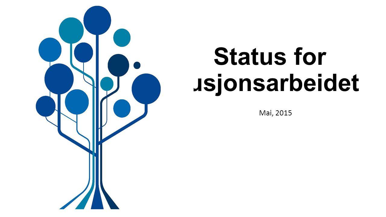 Status for fusjonsarbeidet Mai, 2015