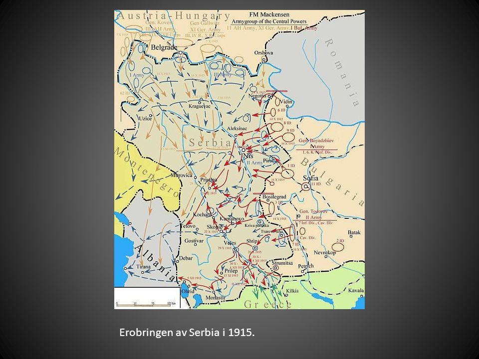 Erobringen av Serbia i 1915.