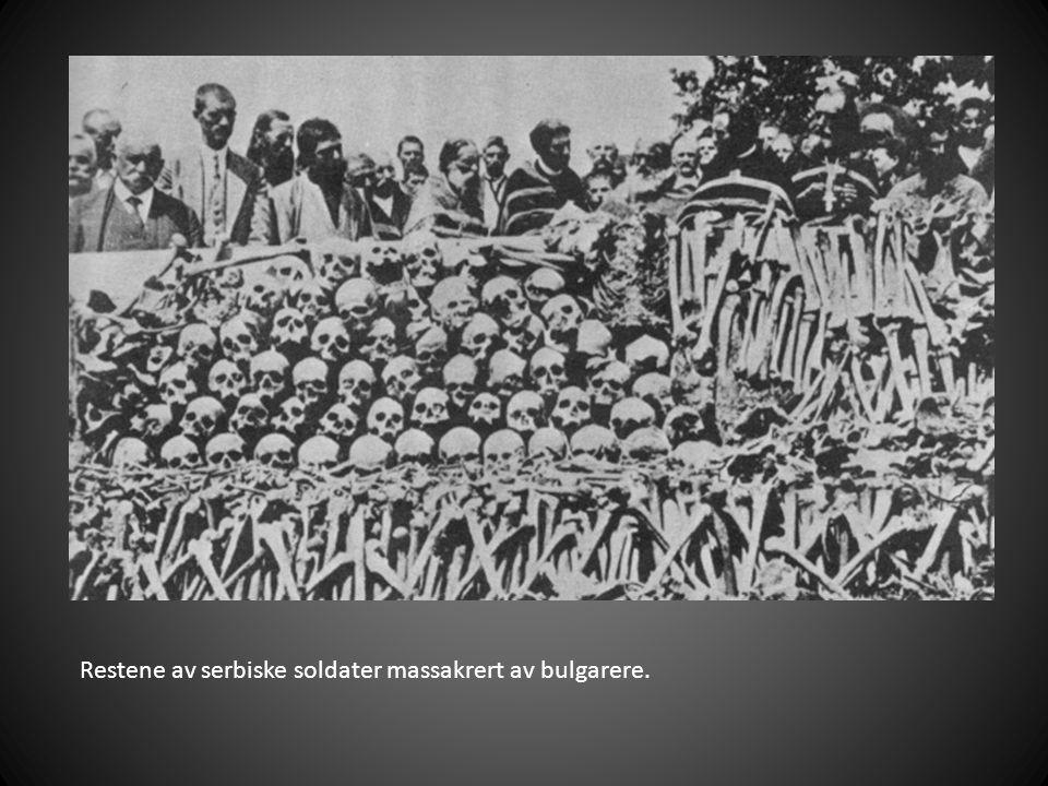 Restene av serbiske soldater massakrert av bulgarere.