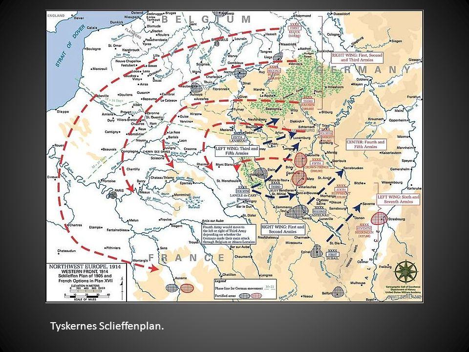 Tyskernes Sclieffenplan.