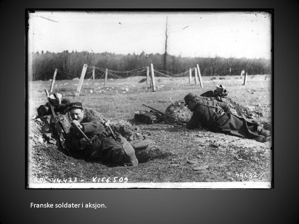 Franske soldater i aksjon.