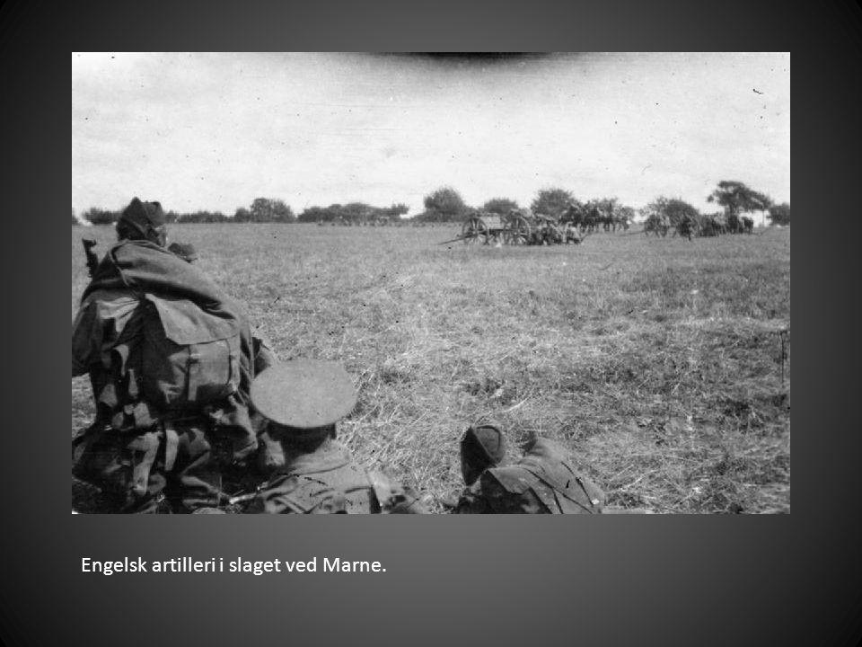 Engelsk artilleri i slaget ved Marne.