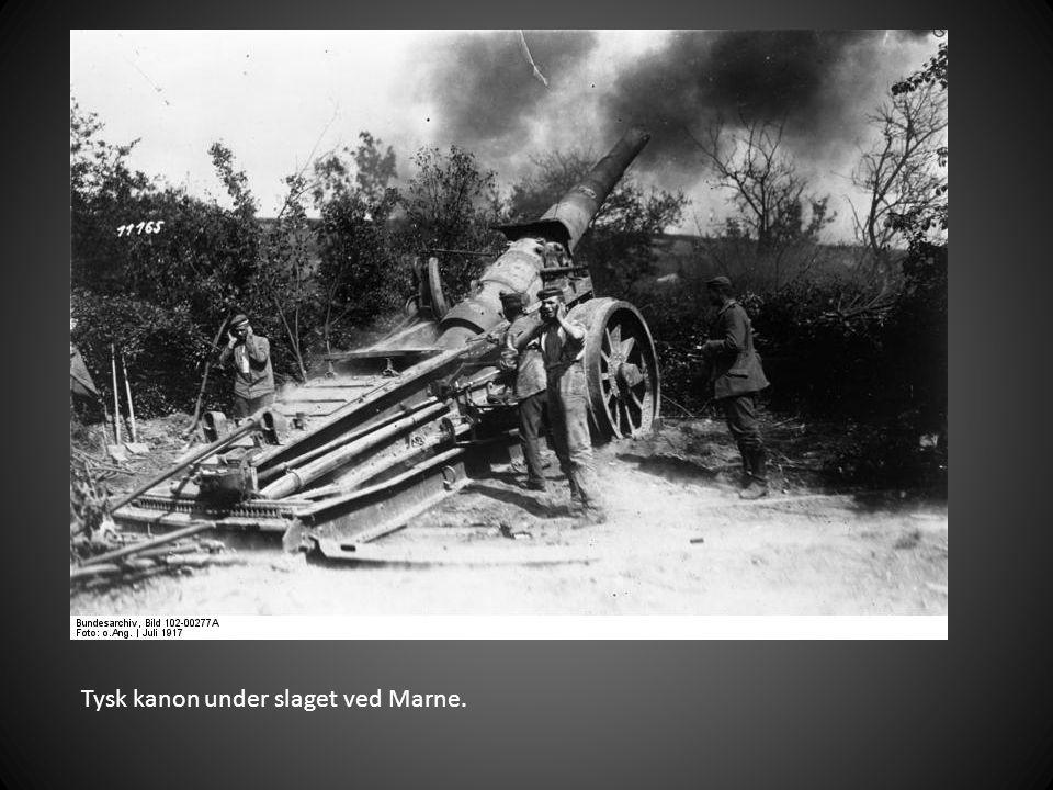 Tysk kanon under slaget ved Marne.