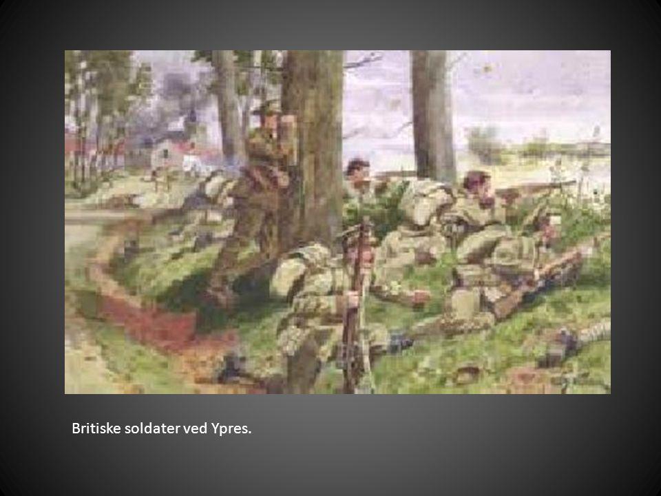 Britiske soldater ved Ypres.