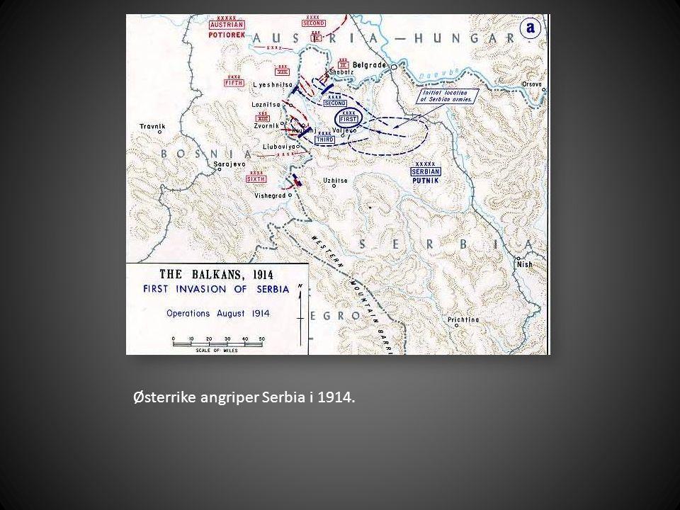 Serbiske soldater like før et slag..