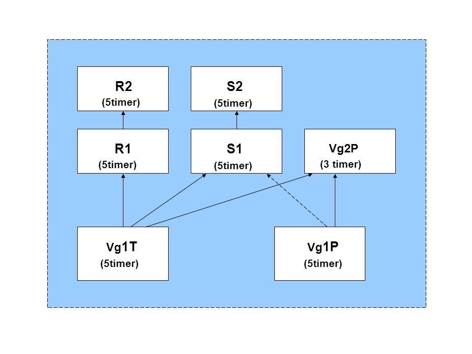Vg 1T (5timer) Vg 1P (5timer) R1 (5timer) S1 (5timer) Vg2P (3 timer) R2 (5timer) S2 (5timer)