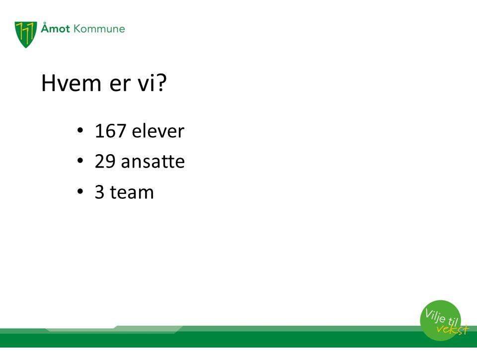 Organisering Teamleder: Gry Nyberg Kontaktlærere: Geir Hjermstad Bente Olsen Linda Merete Lekve