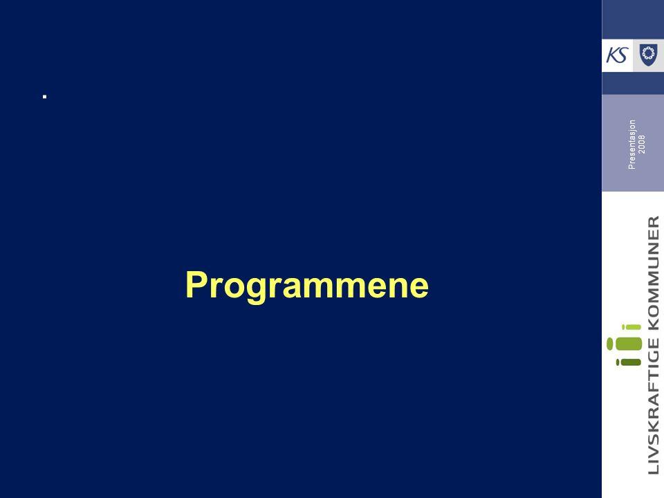 Presentasjon 2008. Programmene