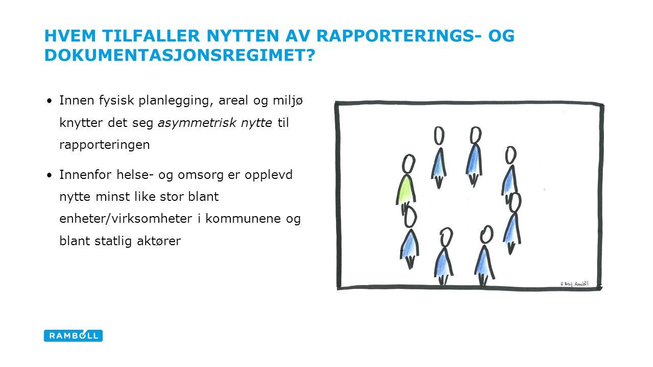 HVEM TILFALLER NYTTEN AV RAPPORTERINGS- OG DOKUMENTASJONSREGIMET.