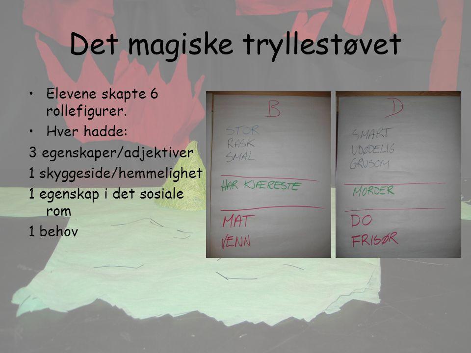 Det magiske tryllestøvet Elevene skapte 6 rollefigurer.