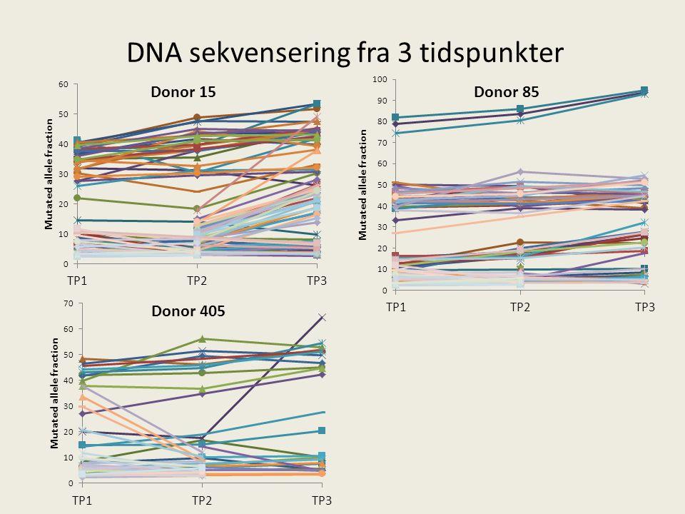 DNA sekvensering fra 3 tidspunkter