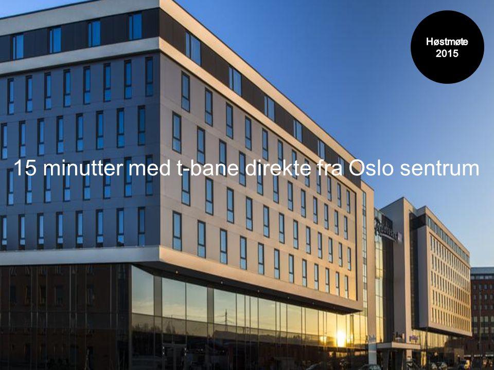 15 minutter med t-bane direkte fra Oslo sentrum