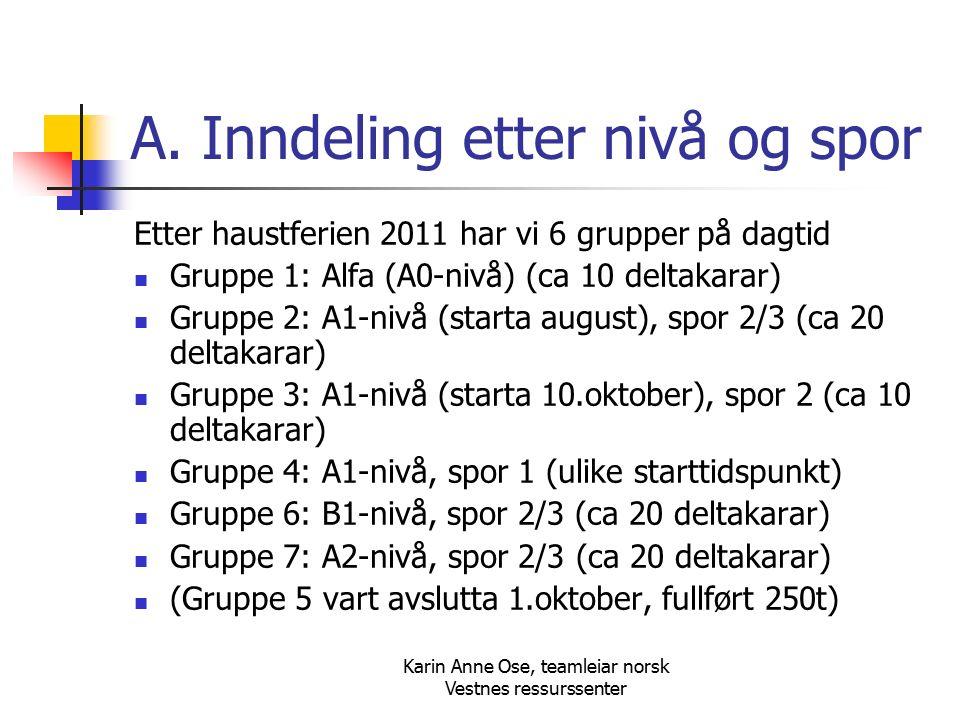 Karin Anne Ose, teamleiar norsk Vestnes ressurssenter A.