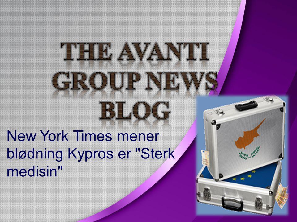 New York Times mener blødning Kypros er Sterk medisin