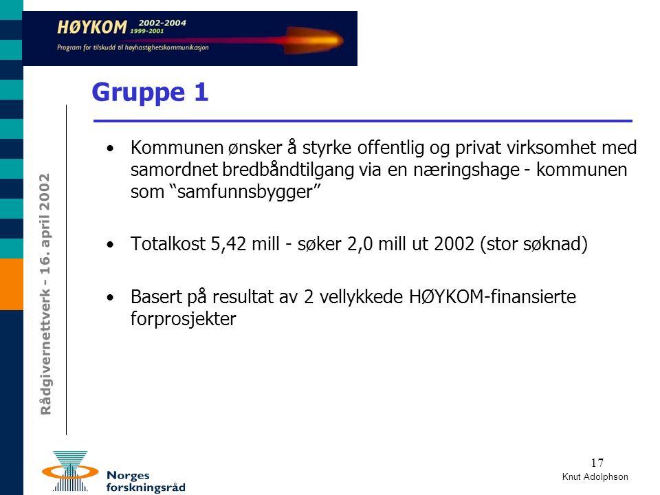 Rådgivernettverk - 16.