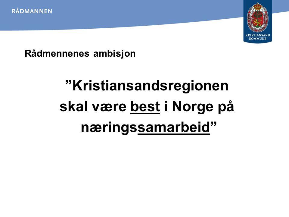 """Rådmennenes ambisjon """"Kristiansandsregionen skal være best i Norge på næringssamarbeid"""""""