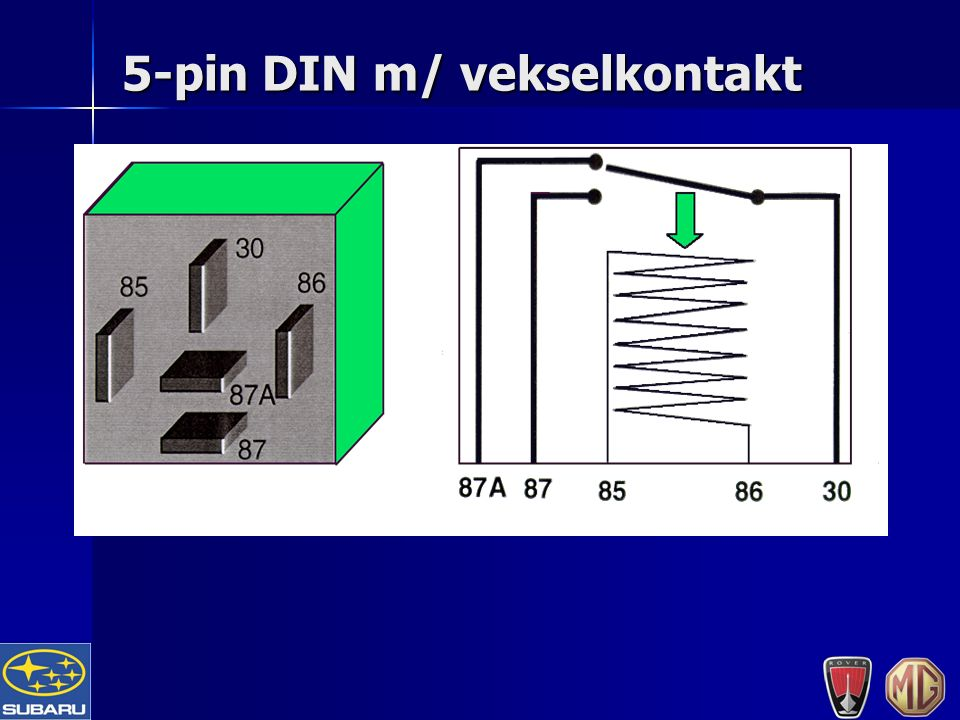 5-pin DIN m/ vekselkontakt