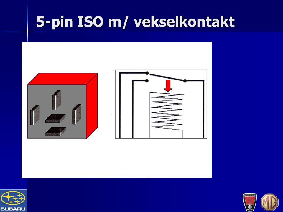 5-pin ISO m/ vekselkontakt
