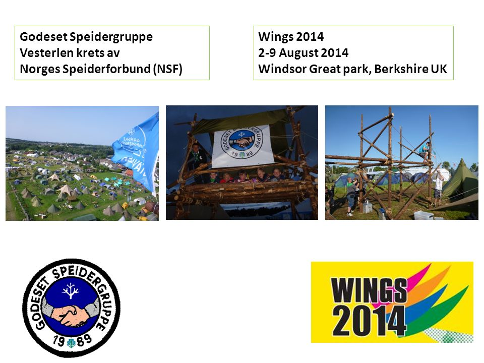 Agenda – Foreldremøte 14.01.2014 1.Leirkomitè 2.Wings 2014 3.Reise 4.Budsjett 5.Påmelding 6.Spørsmål