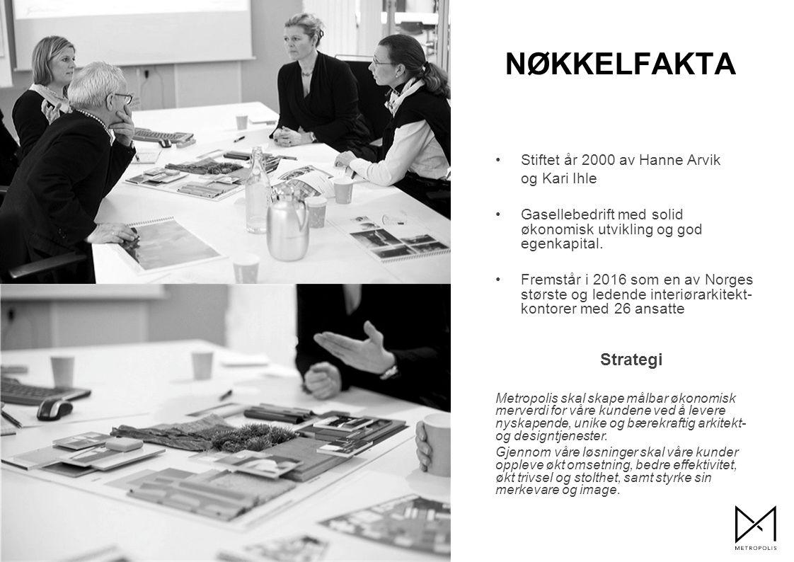 Stiftet år 2000 av Hanne Arvik og Kari Ihle Gasellebedrift med solid økonomisk utvikling og god egenkapital.