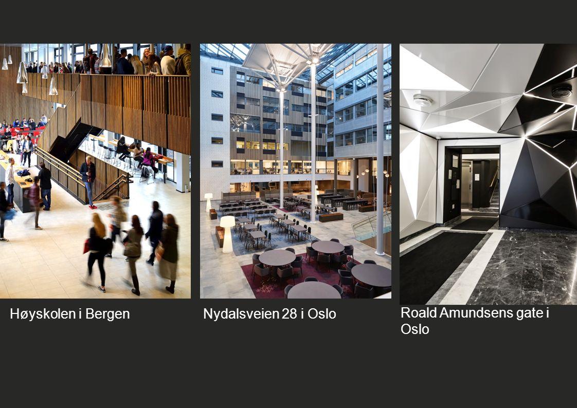 Høyskolen i BergenNydalsveien 28 i Oslo Roald Amundsens gate i Oslo