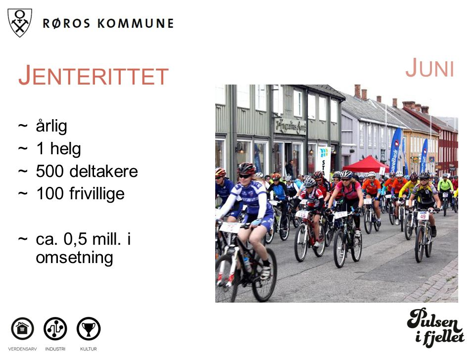J UNI J ENTERITTET ~årlig ~1 helg ~500 deltakere ~100 frivillige ~ca. 0,5 mill. i omsetning