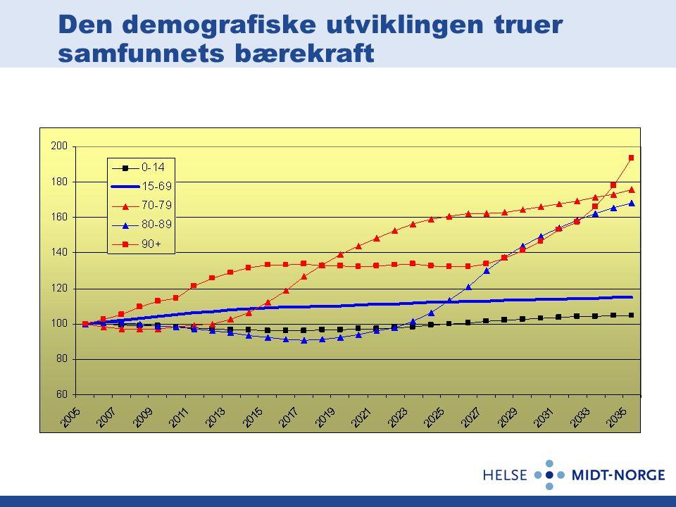 Den demografiske utviklingen truer samfunnets bærekraft