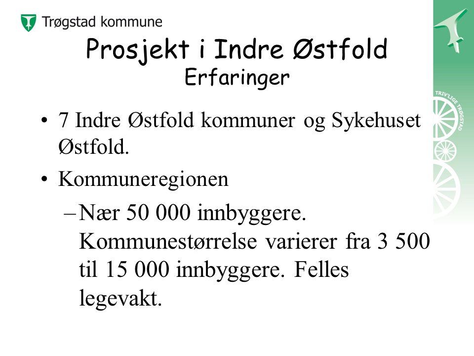 Prosjekt i Indre Østfold Erfaringer 7 Indre Østfold kommuner og Sykehuset Østfold.