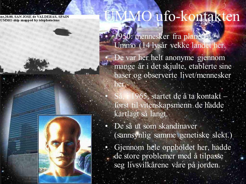 UMMO ufo-kontakten 1950: mennesker fra planeten Ummo (14 lysår vekke landet her.